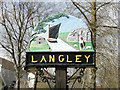 TG3700 : Langley village sign (detail) by Adrian S Pye