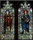 TQ4412 : Stained glass window, St Mary's church, Ringmer by Julian P Guffogg