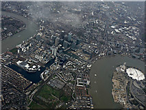 TQ3778 : Isle of Dogs from the air by Thomas Nugent