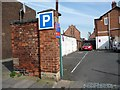 NZ5020 : Entrance to Abingdon Road car park, Middlesbrough by Christine Johnstone