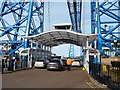 NZ4921 : North-bound traffic driving onto the Transporter Bridge by Christine Johnstone
