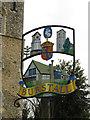 TM0944 : Burstall village sign (detail) by Adrian S Pye