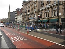 NZ2463 : Roadworks on Neville Street, Newcastle upon Tyne by Graham Robson