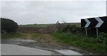 SW8673 : Gated field near Trethias Farm by Anthony Parkes
