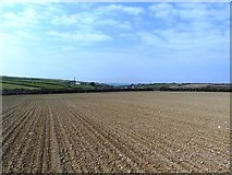 SW8673 : Fields near Trehemborne by Anthony Parkes