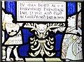 SJ5882 : Alice in Wonderland stained glass window, Cheshire Cat, All Saints Church Daresbury by Matt Harrop