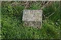 SW9176 : Stone marker near Gun Point by Ian S