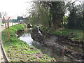 TQ4673 : Drainage improvements, River Shuttle, Bexley by Stephen Craven
