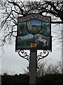 TM0669 : Finningham Village sign by Adrian Cable
