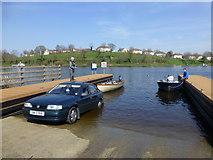 H2244 : Launching a small craft, Enniskillen by Kenneth  Allen