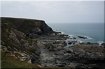 SW8471 : South West coast path towards Totly Cove by Ian S