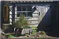NU1341 : Shed in Lindisfarne Castle Garden by Stephen McKay