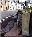 SO5710 : South side of an old milestone in Coleford by Jaggery