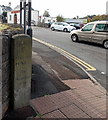 SO5710 : North side of an old milestone in Coleford  by Jaggery
