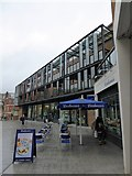 SX9292 : Flats, shops and restaurant, Bedford Street, Exeter by David Smith