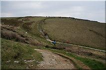 SW8469 : South West coast path towards Pendarves Point by Ian S