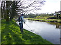 H4772 : Angling on the Camowen River by Kenneth  Allen