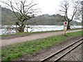 SJ9558 : Rudyard Lake Steam Railway stop sign by Christine Johnstone