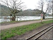 SJ9558 : Rudyard Lake Steam Railway stop sign by Christine Johnstone