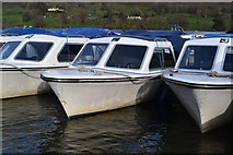 SD3097 : Moored hire boats on Coniston Water by David Martin