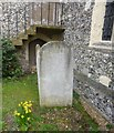 TQ0766 : Grave of Margaret Love Peacock at St Nicholas Church, Shepperton by Sean Davis