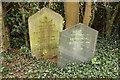 TF0343 : Headstones in Rauceby Hospital burial ground by Richard Croft