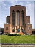 SU9850 : Guildford Cathedral, Stag Hill by David Dixon