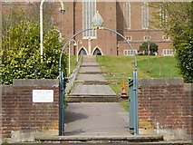 SU9849 : Entrance to Guildford Cathedral Grounds from Stag Hill by David Dixon