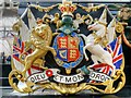 SU9676 : The Queen's Coat of Arms at Windsor Royal by David Dixon