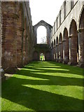 SE2768 : The nave of the church at Fountains Abbey by Rod Allday