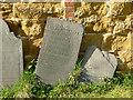 SK7123 : Belvoir Angel headstone, Wartnaby Churchyard by Alan Murray-Rust