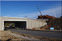 SD4964 : Shefferlands Bridge under construction by Ian Taylor