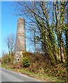 SX0056 : Disused Clayworks Chimney by Anthony Parkes