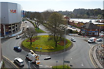 SJ8445 : Newcastle-under-Lyme: Friars Street roundabout by Jonathan Hutchins