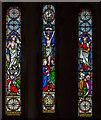 TQ4007 : East window, St Nicholas' church, Iford by Julian P Guffogg