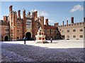 TQ1568 : Hampton Court Palace, Base Court and Great Gatehouse by David Dixon