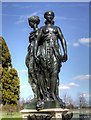 TQ1668 : Statue in East Front Garden, Hampton Court by David Dixon