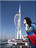 SZ6299 : Figurehead and Spinnaker Tower, Portsmouth by Robin Sones