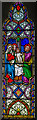 TQ4206 : Stained glass window, St Peter's church, Rodmell by Julian P Guffogg