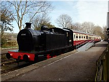 SD8789 : Train in the sidings at Hawes by Steve Houldsworth
