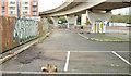 J3474 : Disused car park, Bridge End, Belfast (April 2015) by Albert Bridge