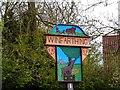 TM1085 : Winfarthing village sign by Bikeboy