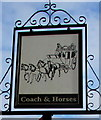 SP3583 : Coach & Horses name sign, Longford, Coventry by Jaggery