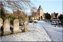SK3736 : Main Gates to Nottingham Road Cemetery, Derby by Francis Dolman