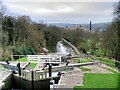 SE1039 : Bingley Five-Rise Locks by David Dixon