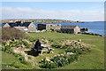 HP5901 : The garden at Gardiesfauld Hostel, Uyeasound by Mike Pennington