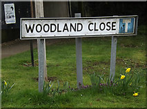 TM0259 : Woodland Close sign by Adrian Cable