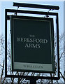 NZ1281 : Sign for the Beresford Arms, Whalton by JThomas