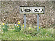 TM0259 : Union Road sign by Adrian Cable
