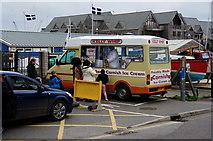 SW8132 : Ice cream van on Arwenack Street, Falmouth by Ian S